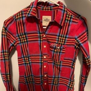 Red plaid hollister flannel